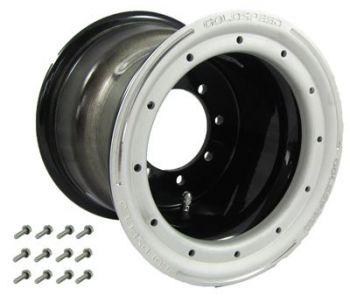 GS: 9X8 4/110/115 3+5 B BEAD LOCK ZWART - Zand-BL RING