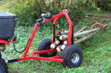 ATV houtblokken trekker met elektrische lier kit